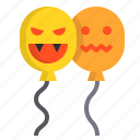 balloon, halloween, party, witch