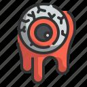 eyeball, fright, halloween, horror, scary, spooky icon