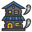 ghost, halloween, haunted, horror, house icon