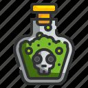 dead, halloween, posion, skeleton, venom icon