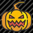 fear, halloween, horror, pumpkin, scary, spooky icon