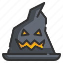 fear, halloween, hat, horror, scary, spooky, witch icon