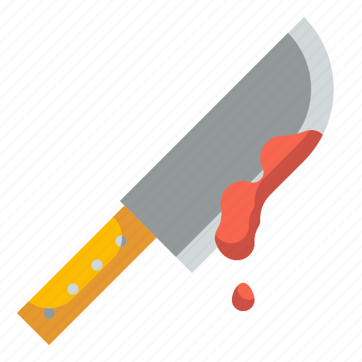 blood, butcher, cleaver, halloween, knife icon