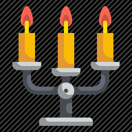 candelabra, decoration, elegant, furniture, halloween, household icon