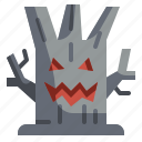 evil, halloween, monster, spooky, tree icon