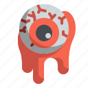 eyeball, fright, halloween, horror, scary, spooky icon
