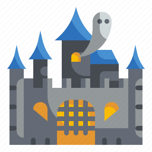 Building, castle, ghost, halloween, horror, palace icon - Download on Iconfinder