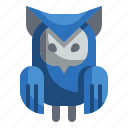 animals, bird, halloween, hunter, owl icon