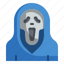fear, halloween, horror, scary, scream, spooky icon