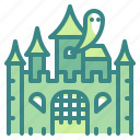 building, castle, ghost, halloween, horror, palace