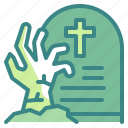 dead, graveyard, halloween, horror, living, scary, zombie