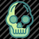 fear, halloween, horror, scary, skull, spooky