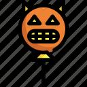 balloon, devil, halloween, sweet