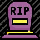 cemetery, death, grave, graveyard, halloween, rip icon