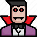 dracula, ghost, halloween, scary, spooky, vampire icon