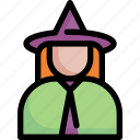 avatar, halloween, magic, witch icon