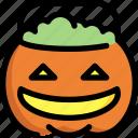 candy, halloween, pot, pumpkin, sweet