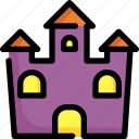 castle, building, scary, halloween, tower