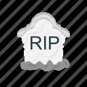 dead, death, grave, halloween, rip icon