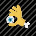 creepy, eye, halloween, hand, scary icon