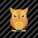 animal, bird, halloween, owl, scary icon