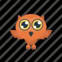 bird, halloween, night, owl, scary icon