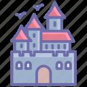 castle, halloween, haunted