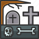 death, graveyard, horror, rip icon
