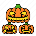 carving, halloween, pumpkin, scary icon