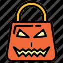bag, halloween, paper bag, shopping bag