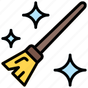 broom, sweeping, sweep, cleaning icon