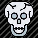skull, horror, signs, fear icon