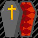 coffin, frightening, death icon
