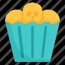 bakery, cake, cupcake, food, halloween, skull, spooky
