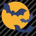 animal, bat, fly, halloween, moon, spooky, vampire