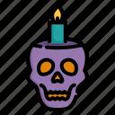 candle, dark, death, halloween, horror, scary, skull