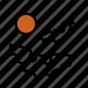 bats, full moon icon