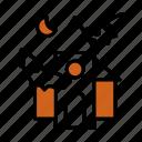 bats, castle, moon icon