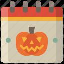 schedule, date, halloween, calendar, day, festival, time
