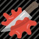 weapon, props, blood, knife, murder