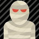 egypt, costume, halloween, carnival, character, mummy, avater