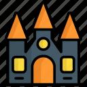 castle, building, spooky, ghost, horror, scary, halloween