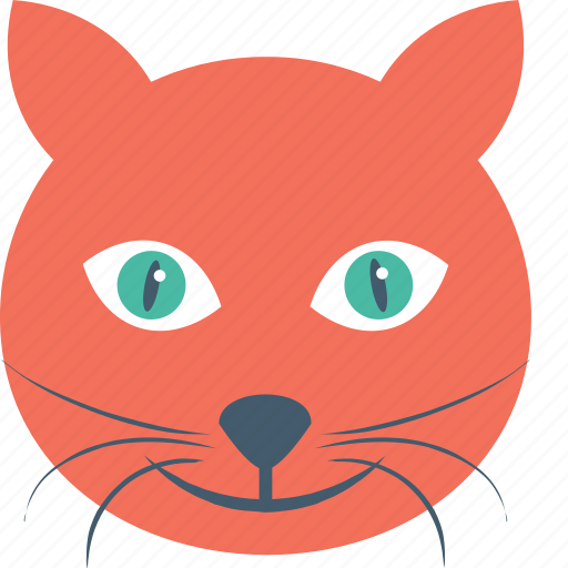 cat face, dreadful, evil cat, horrible cat, scary icon