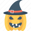 cap, halloween, pumpkin, witch, witch hat