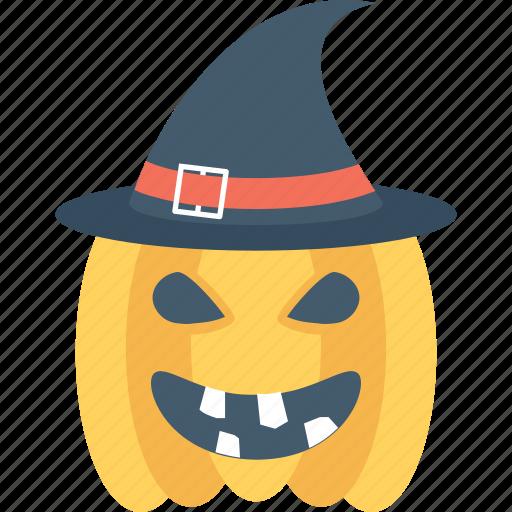 cap, halloween, pumpkin, witch, witch hat icon
