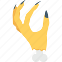 frightening, hand, scary, spooky, zombie hand icon
