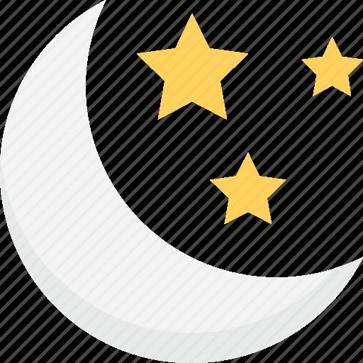 Halloween moon, moon, stars, sundown, weather icon - Download on Iconfinder
