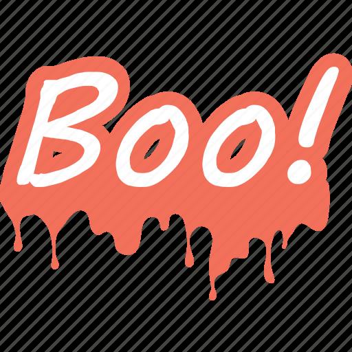 boo, boo written, ghost, halloween, spooky icon