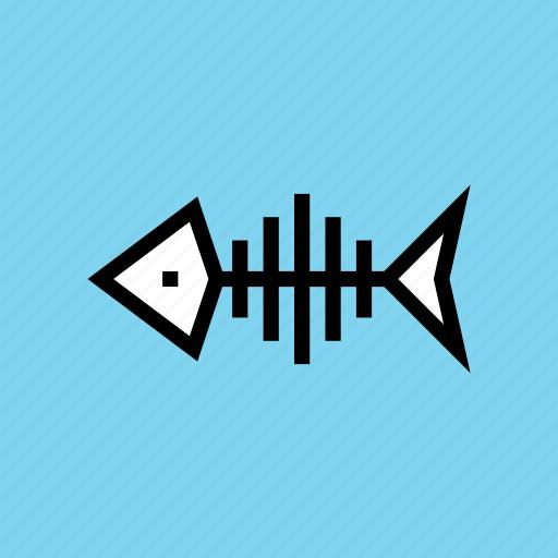 bone, fish, halloween, seafood icon
