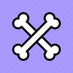 bones, caution, crossbones, danger, death, poison, skeleton icon